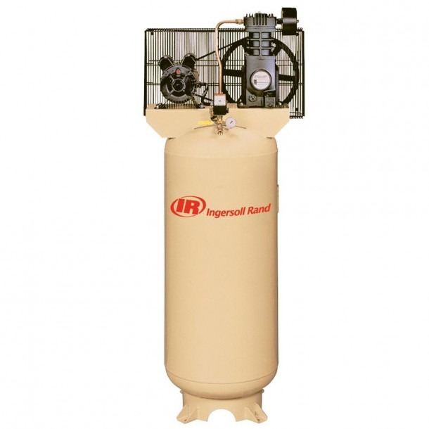 Ingersoll Rand Reciprocating 60 Gal  5 Hp Electric 230