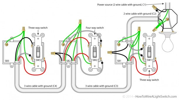 How To Wire A 4 Way Light Switch Diagram