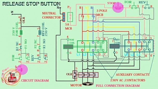 Magnetic Contactor Wiring Diagram Pdf Reversing Single Phase With