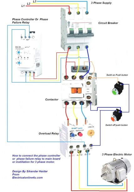 3 Phase Contactor Wiring Diagram Pdf