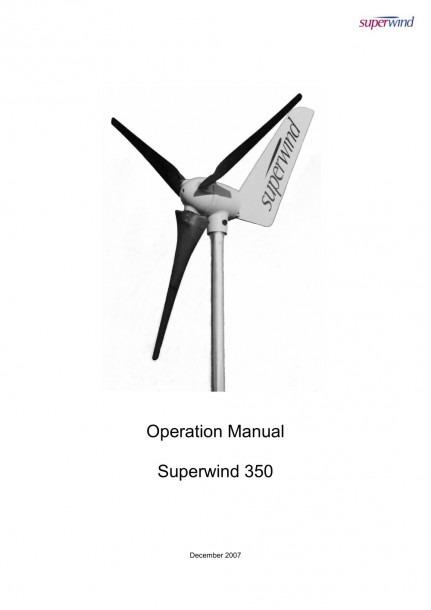Manual Superwind Sw 350