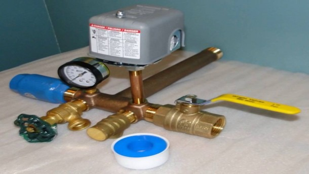 1 25 X 14 Tank Tee Kit With Valves Installation Water Well