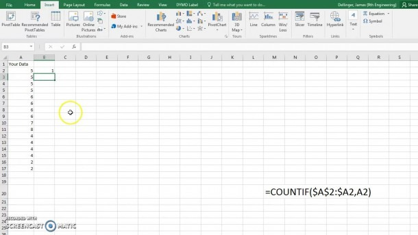 Making A Dot Plot In Microsoft Excel