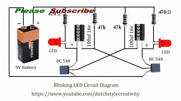 Led Light Flasher Circuit Diagram