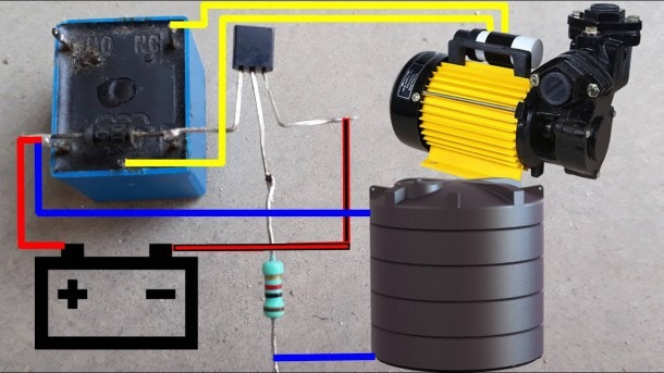 Water Pump Auto Cut Switch Circuit Diagram