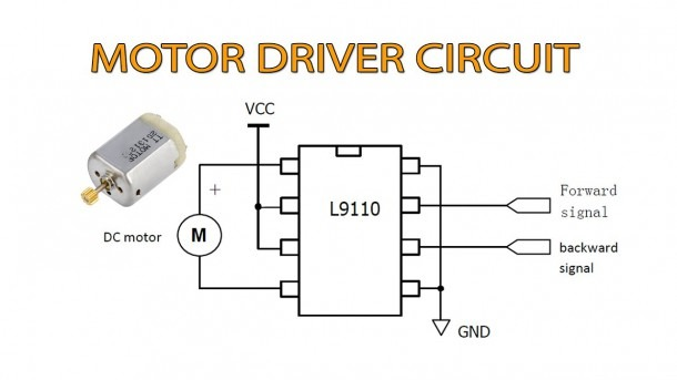 Dc Motor Driver Circuit With L9110 Ic