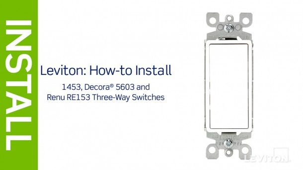 Leviton Presents  How To Install A Three