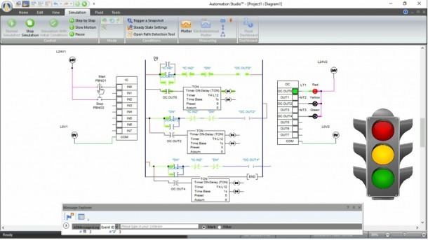 Traffic Signal Plc Ladder Programming Complete Project