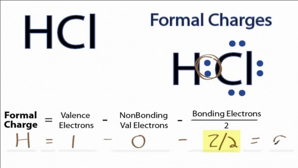 Calculating Hcl Formal Charges  Formal Charges For Hcl
