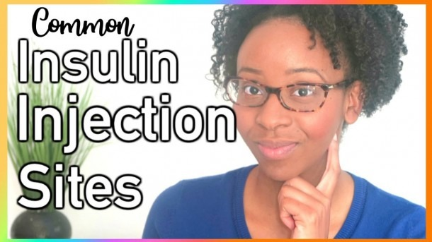 Commonly Used Insulin Injections Sites W  Diagram