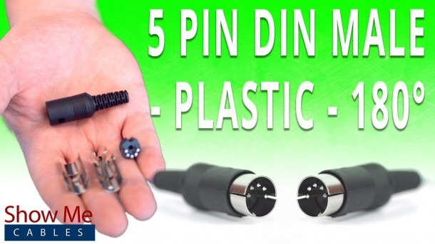 How To Install The 5 Pin Din Male Solder Connector (180° Style