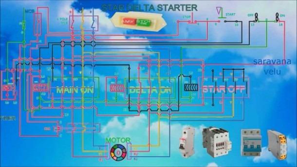 Star Delta Starter Control Wiring Diagram With Timer