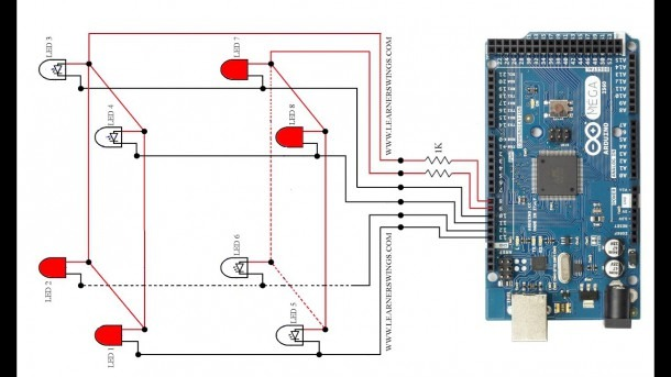 Led Cube Wiring Diagram