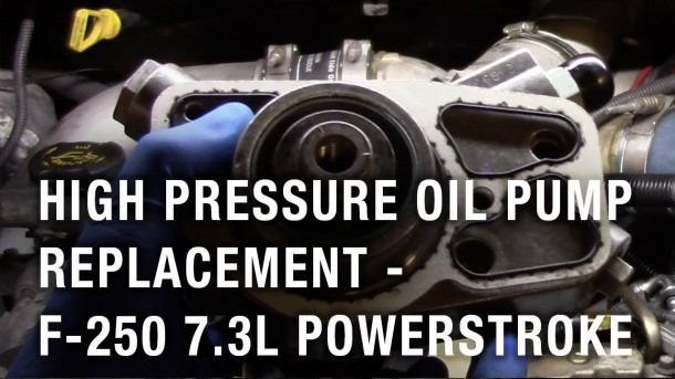 High Pressure Oil Pump Replacement
