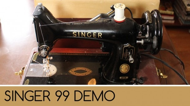 Singer 99  How To Wind And Thread Sewing Machine Demonstration