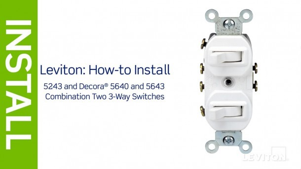 Leviton Double 3 Way Switch Wiring Diagram