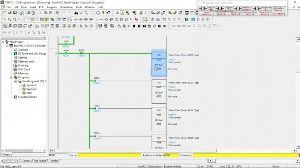 Simulasi Ladder Diagram Traffic Light