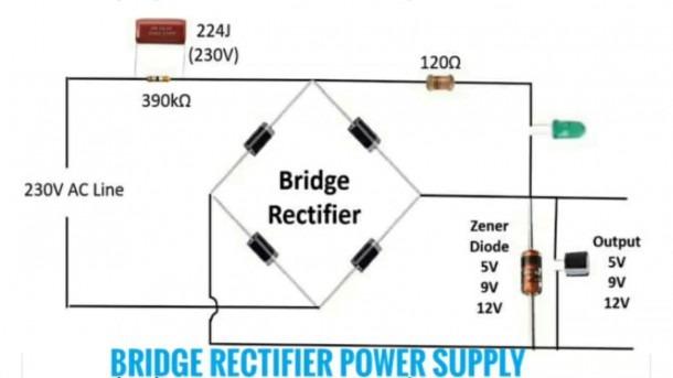 Circuit Diagram Of Mini Inverter & Bridge Rectifier Power Supply