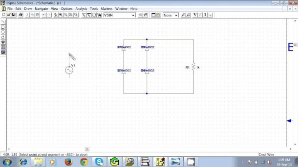 How To Make A Full Wave Rectifier With Pspice Schematics