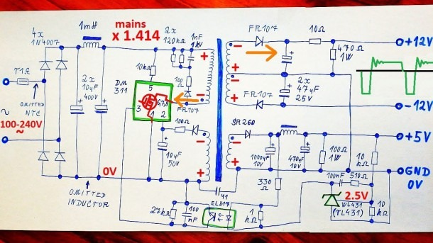 How Does A Switching Power Supply Work 1 (schematic, Explanation
