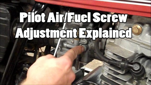Pilot Air Fuel Screw Adjustment Explained