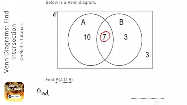 Venn Diagrams  Find Intersection (grade 5)