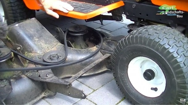 How To Replace Belt+remove Deck On Riding Lawn Mower Tractor