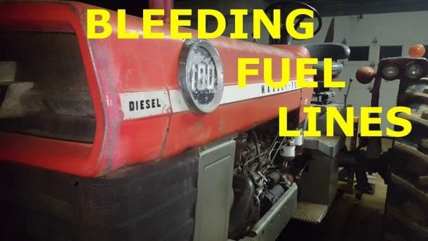 Massey Ferguson 180 Bleeding The Diesel Fuel Lines After Running