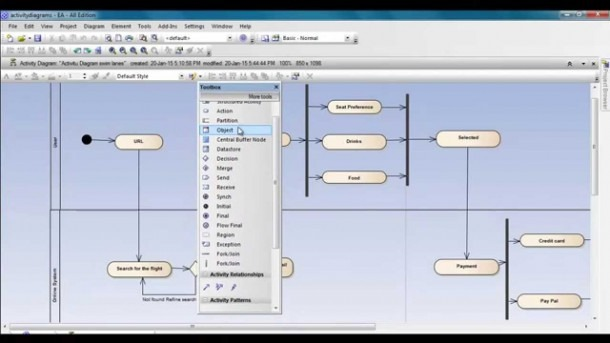 Activity Diagram Using Enterprise Architect