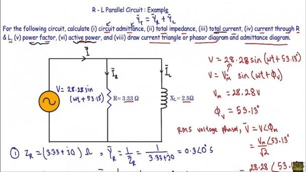 Rl Parallel Circuit (ac)   Example