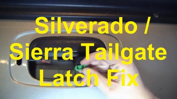 How To Fix A Stuck Tailgate Latch On A Silverado   Sierra