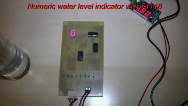 Numeric Water Level Indicator With Ic 74148