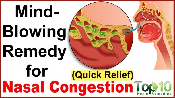 Instant Relief From Nasal Congestion