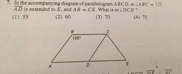 Solved  In The Accompanying Diagram Of Parallelogram Abcd, M