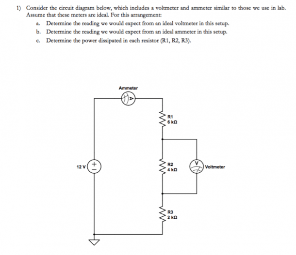 Solved  Consider The Circuit Diagram Below, Which Includes
