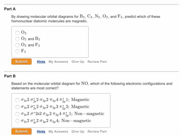 Solved  Question 1) By Drawing Molecular Orbital Diagrams