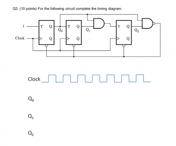 Solved  Q3  (10 Points) For The Following Circuit Complete