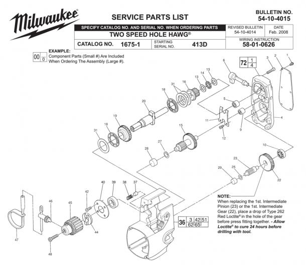 Milwaukee Hole Hawg Parts Diagram