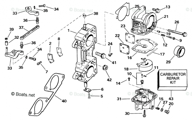 Johnson Outboard Parts By Year 2001 Oem Parts Diagram For
