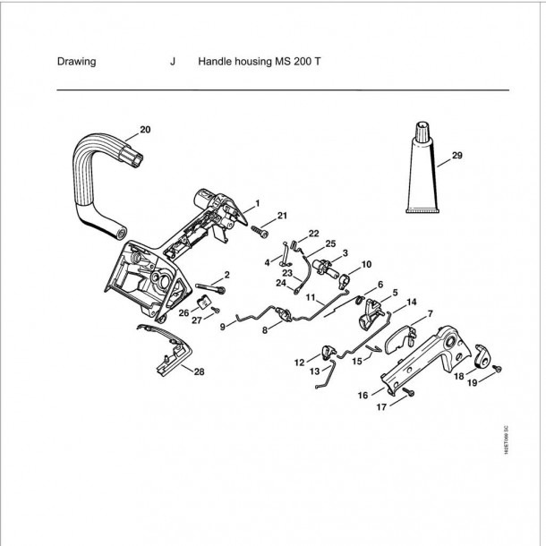 Stihl 020 Chainsaw Parts Diagram