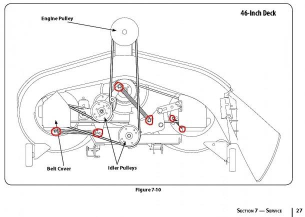 46 Inch Craftsman Mower Deck Belt • Decks Ideas