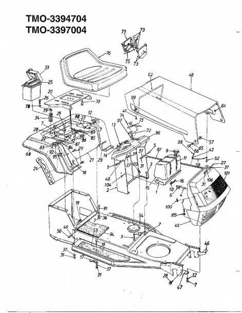 Snowblower Engine Diagram