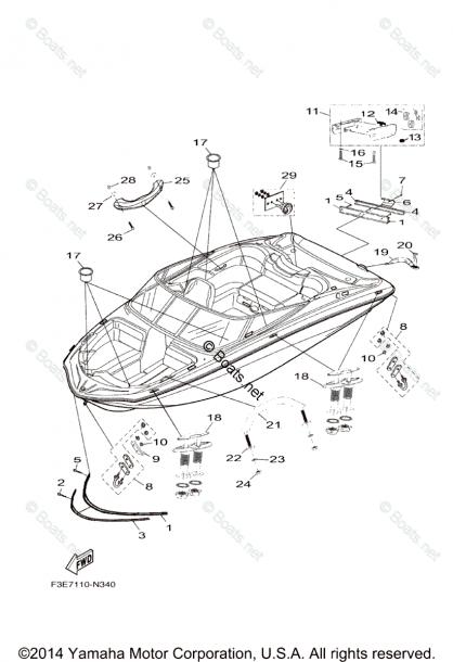Yamaha Boat Parts 2014 Oem Parts Diagram For Hull