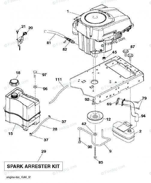 Husqvarna Tractor Engine Diagram