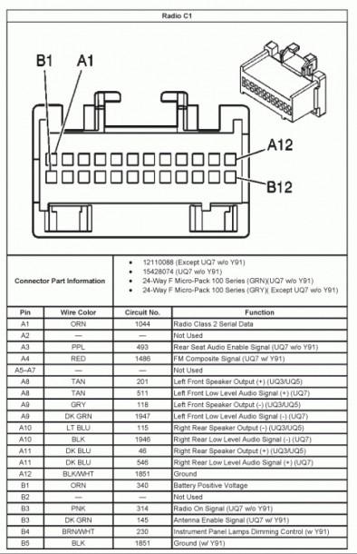 Bose Speaker Wiring Diagram Gm