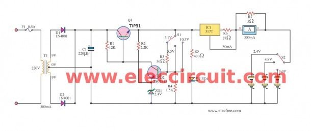 Universal Nicd And Nimh Battery Charger Using Lm317t