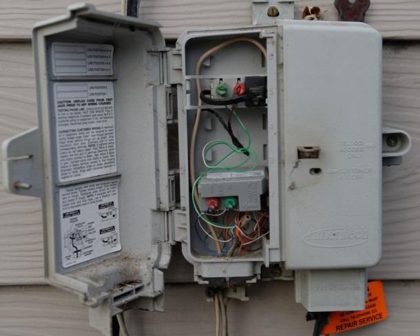 Telephone On Outside Phone Box Wiring On Phone Demarcation Box