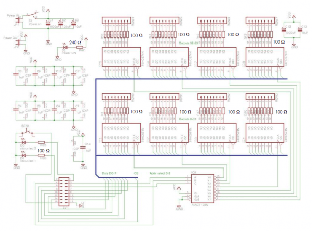 8x8x8 Led Cube Kit Schematic