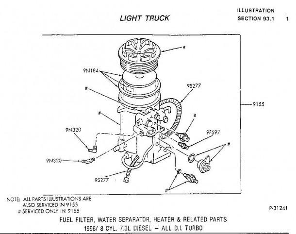 Ford 7 3 Fuel Filter Y