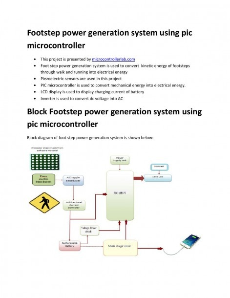 Footstep Power Generation System Using Pic Microcontroller By